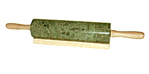 Green Marble Rolling Pin with Wooden Handles (Image1)