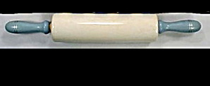 Wooden Blue Handled & Porcelain Rolling Pin (Image1)