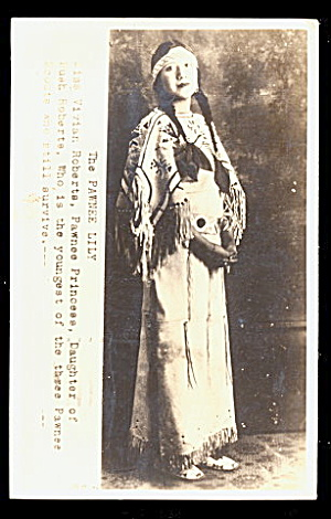 Pawnee Princess - Pawnee Lily Native American 1943 Rppc