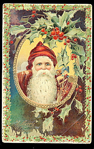 Santa Claus/father Christmas Robed Gel 1908 Postcard