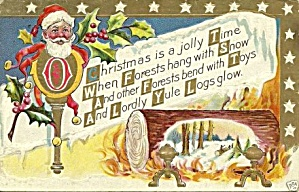 1910 Santa Claus 'christmas Is A Jolly Time' Postcard