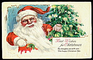 Merry Christmas Santa Claus 1921 Postcard