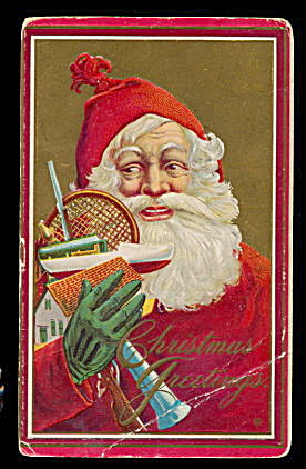 1915 Julius Bien Santa Claus with Toys Postcard (Image1)