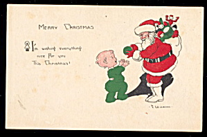1920 E Weaver Santa Claus Postcard (Image1)