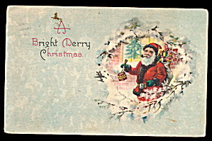 Santa Claus with Toys Image 1920 Postcard (Image1)