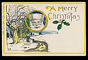 Great 'A Merry Christmas' Santa Claus 1906 Postcard (Image1)