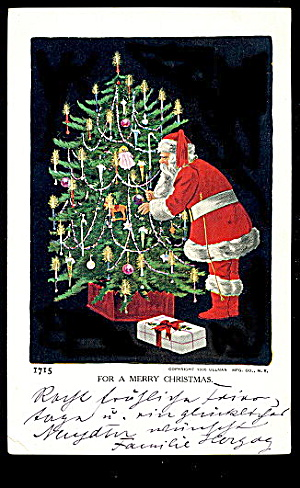 "1905 Ullman 'merry Christmas"" Santa Claus Postcard"