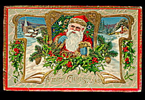 Santa Claus with Gilt 1907 Postcard (Image1)
