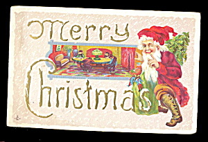1910 Santa Claus Elf Frolicking Postcard