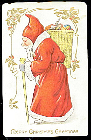 Tucks Santa Claus With Bag Of Toys 1907 Postcard