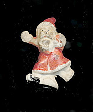 "Great Early Small 1 3/4"" Bisque Santa Claus (Image1)"