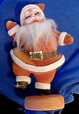 """Vintage 8 1/2"""" 1950s-1960s Plastic Santa Claus (Image1)"""