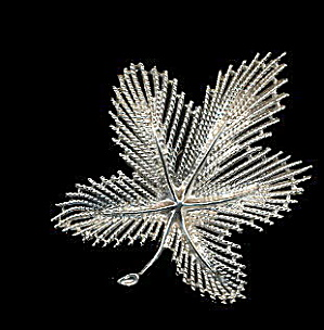 1960s Sarah Coventry 'Silvery Maple' Brooch (Image1)