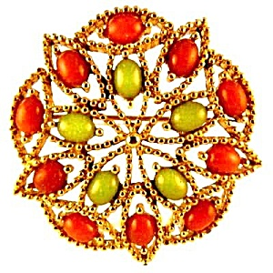 1960s Sarah Coventry 'Acapulco' Brooch & Earrings (Image1)
