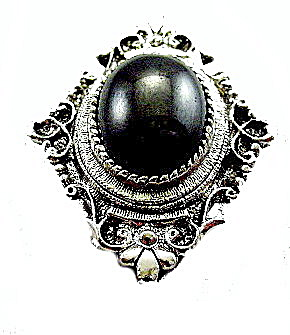 1960s Sarah Coventry 'Mystique' Hematite Brooch (Image1)