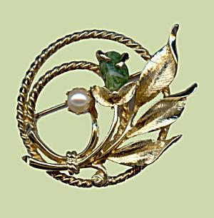 1970s Sarah Coventry 'Jade Garden' Brooch (Image1)