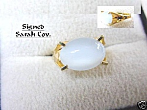 "1960s Sarah Coventry 'Beauty Glow"" Moonstone Ring (Image1)"