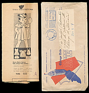 1940s Marian Martin Girls Pinafore Dress Pattern