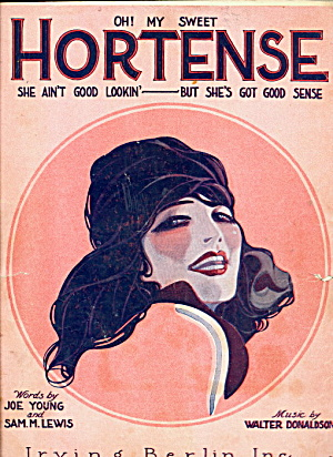 """Hortense"" 1921 Sheet Music (Image1)"