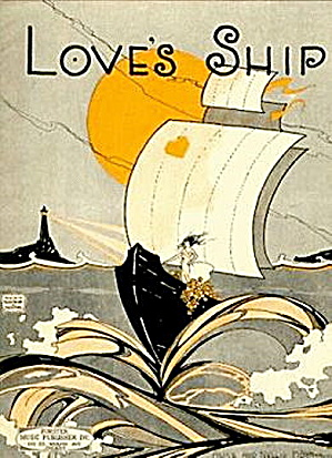 """Love's Ship"" 1920 Sheet Music (Image1)"