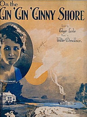 1922 'On the Gin, Gin, Ginny Shore' Flapper Sheet Music (Image1)