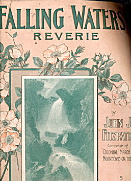 """Falling Waters Reverie"" 1908 Sheet Music (Image1)"