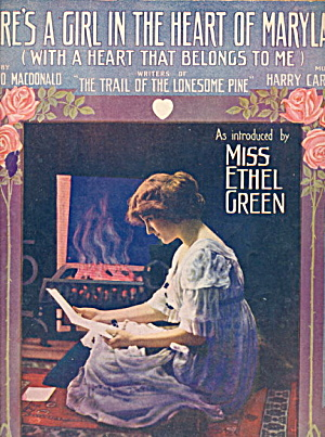 'There's a Girl in the Heart of Maryland' Sheet Music (Image1)