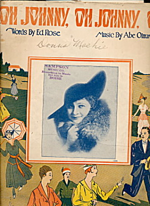 'Oh, Johnny, Oh Johnny, Oh' 1917 Sheet Music (Image1)