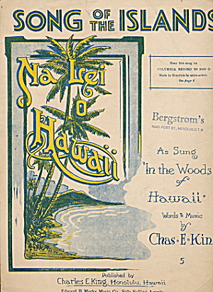 1915 'song Of The Islands' Hawaii Sheet Music