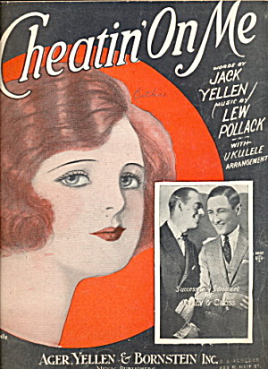 Barbelle Cover 'Cheating on Me' 1925 Sheet Music (Image1)