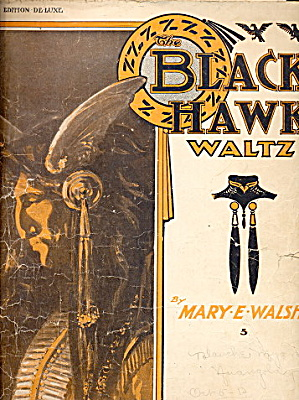 1908 'The Black Hawk Waltz' Native American Sheet Music (Image1)