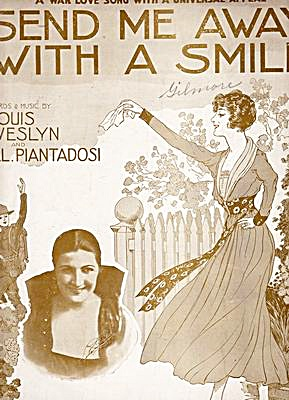 1917 'send Me Away With A Smile' Sheet Music
