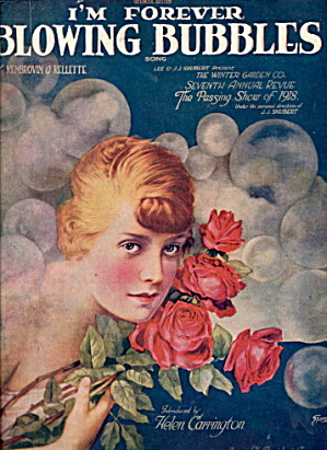 1918 'I'm Forever Blowing Bubbles' Sheet Music (Image1)