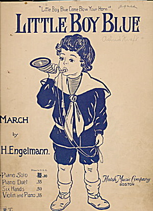 "1900 ""little Boy Blue"" March Sheet Music"