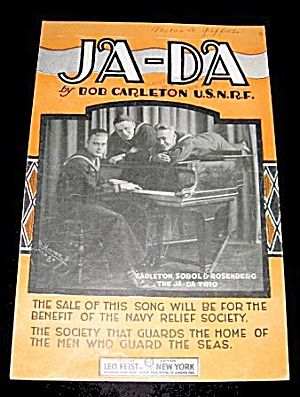 "1918 ""ja-da"" Us Navy Relief Sheet Music"