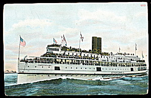 City Of Lowell Steamer Ship 1907 Postcard