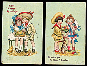 2 Katherine Gassaway Children Easter Postcards (Image1)