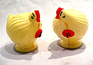 1950s Hard Plastic Chickens Salt & Pepper Shakers
