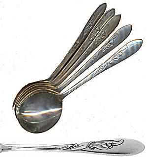 """Vintage International /""""Wilshire/"""" Bouillon Soup Spoon Excellent Condition"""