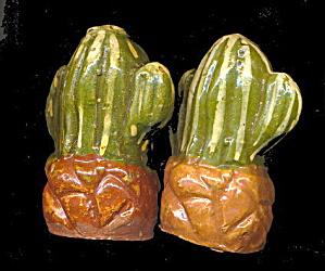 1950s Cacti (Cactus) Mexico Souvenir Salt & Pepper (Image1)