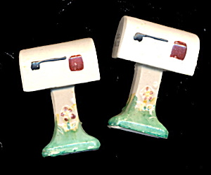 1950s Japan  Mailbox Ceramic Salt & Pepper (Image1)