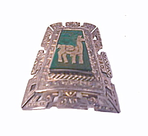 Mexico Sterling Silver Camel 1 3/4 Intricate Brooch