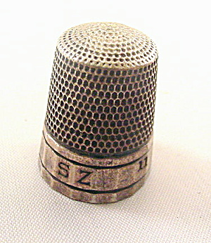 Simons Sterling Silver 11 Multi Panel Thimble #14