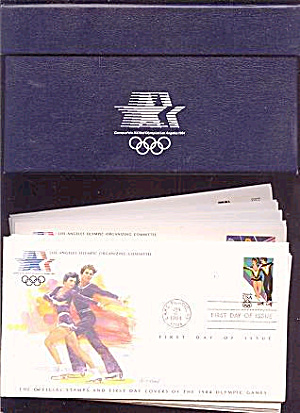 Franklin Mint 1984 Olympics First Day 24 Cover Set (Image1)