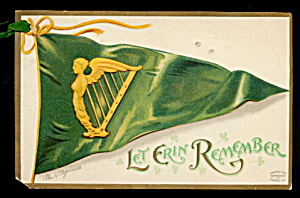 Ellen Clapsaddle St. Patrick´s Day Flag Postcard