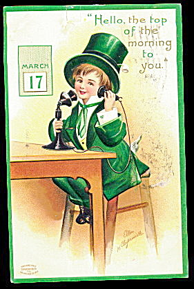 Ellen Clapsaddle St. Patrick´s Day Boy Postcard