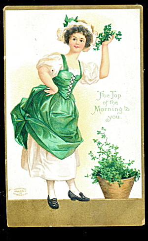 Ellen Clapsaddle St. Patrick´s Day Girl Postcard