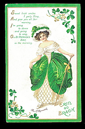 Ellen Clapsaddle St. Patrick´s Day Girl/lass Postcard