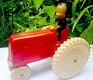 1930s-1940s Sun Rubber Mickey Mouse Tractor