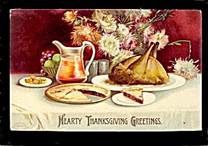 Ellen Clapsaddle Thanksgiving w Turkey 1908 Postcard (Image1)